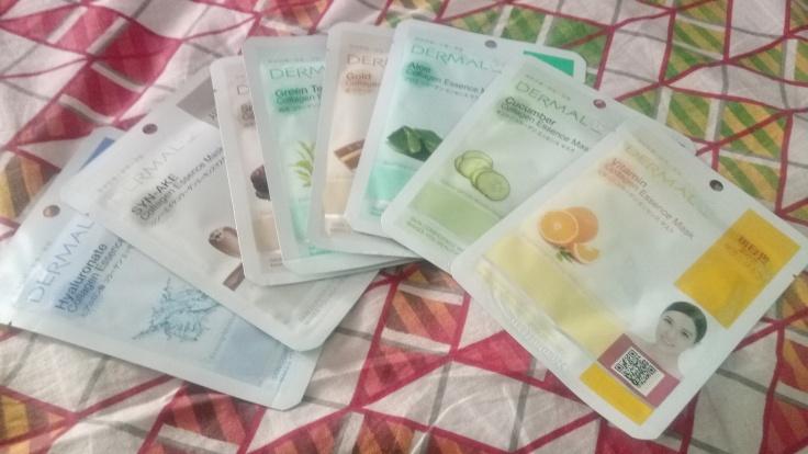 Dermal sheet mask review. dermal collagen sheet mask review. Korean skin care, face mask review